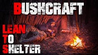 Lagerbau Shelter Lean-to Notbehausung Unterkunft - Bushcraft Deutschland #001