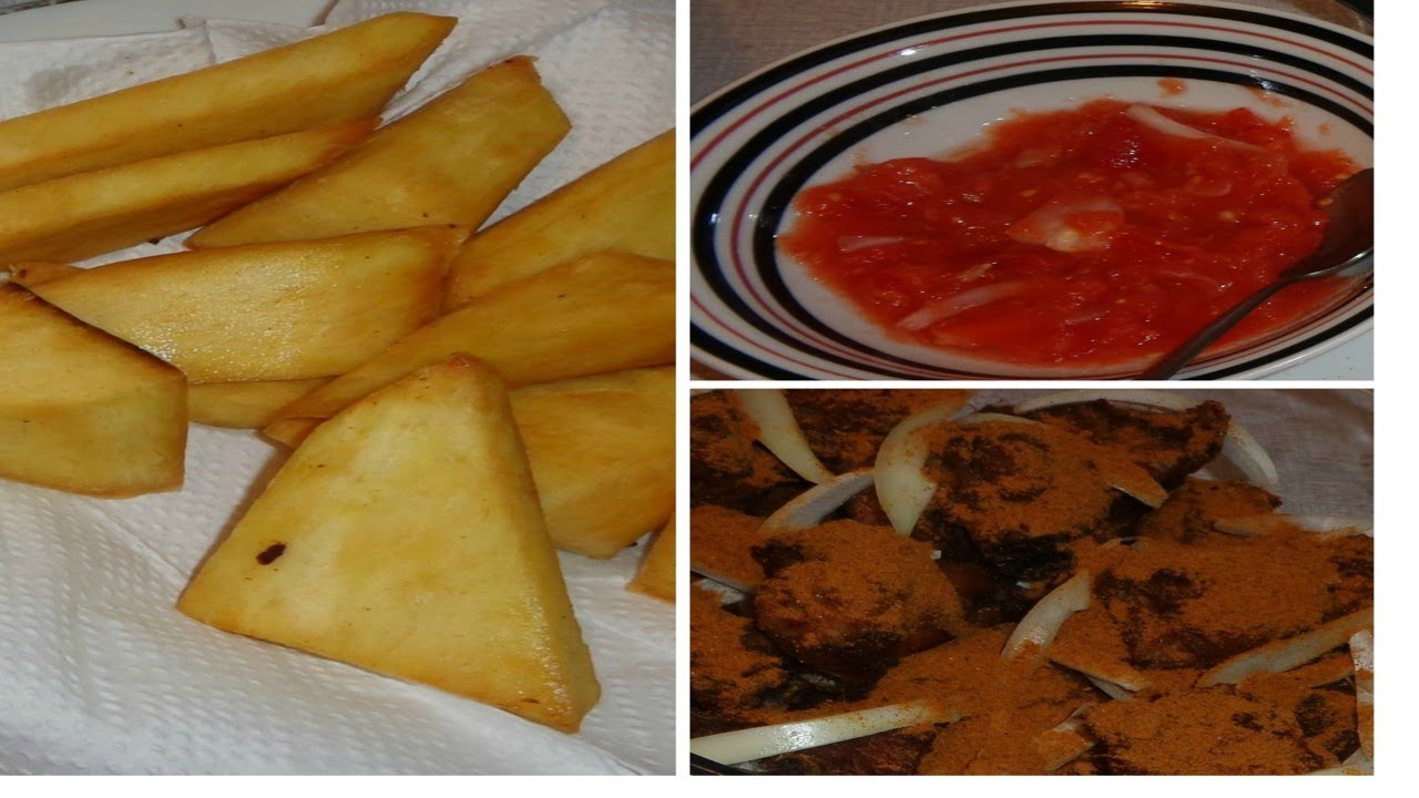 How To Make Fried Yam With Fresh Pepper Sauce
