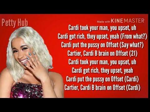 Cardi B Ft 21 Savage- Bartier Cardi (Lyrics)