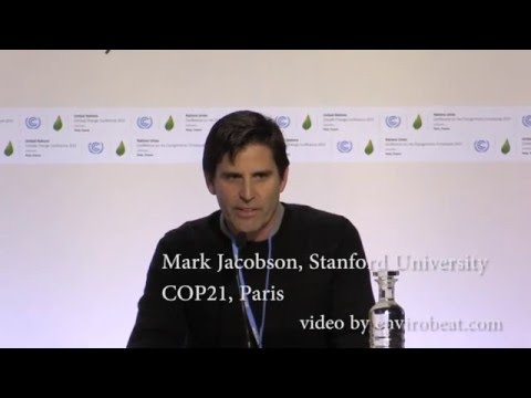 Mark Jacobson at COP21 in Paris, Dec 8, 2015
