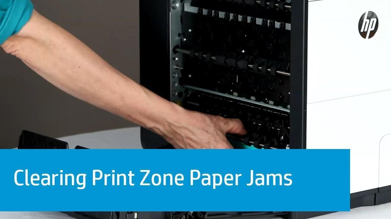 How can remove or fix paper jam error in Hp padgeWide pro 577dw/576 MFP  printer