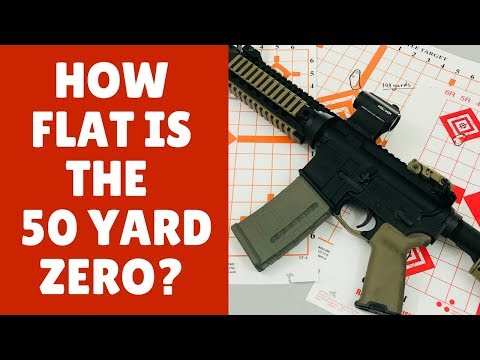 The Flat Shootin' 50 yard Zero (The Best Distance To Sight In A Red Dot)