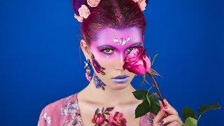 Макияж с переводными тату | макияж с цветами в стиле бохо | обучение пошагово туториал | by TaVi