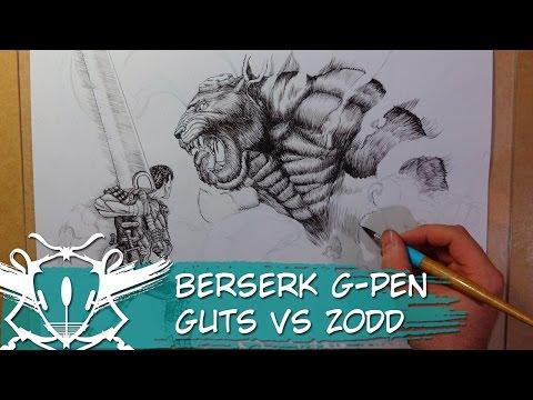 Berserk Guts vs Zodd G Pen Timelapse
