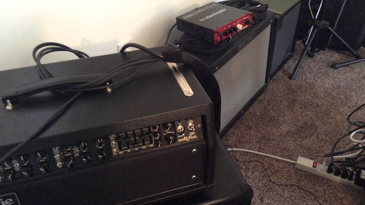 Line 6 Helix with MesaBoogie Mark V 4 Cable Method  YouTube