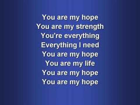 You are my hope song