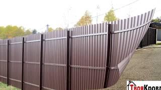 видео забор из профнастила под ключ в екатеринбурге