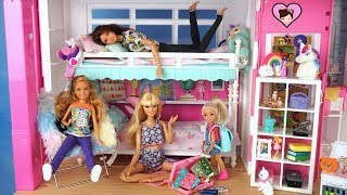 Barbie Unicorn Bedroom Morning routine - Packing for Summer Sleepaway Camp