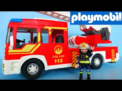 Playmobil Fire Engine with Light and Sound 5362 unboxing | Family Toys Collector