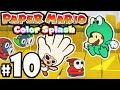 Paper Mario Color Splash PART 10 - Wii U Gameplay Walkthrough - Sunglow Ridge: Black Paint Banzai