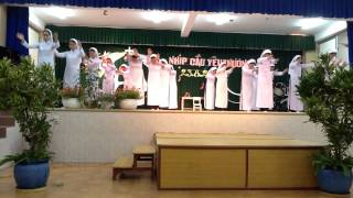 Pre- novices perform in our Feast Day, St. Rose, flower of love, Sr. Clara Chu Linh, OP