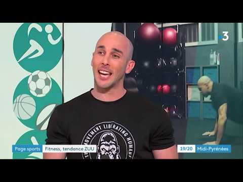 Gregory WHITE sur France 3 - Reportage Zuu Fitness - 09.03.2020