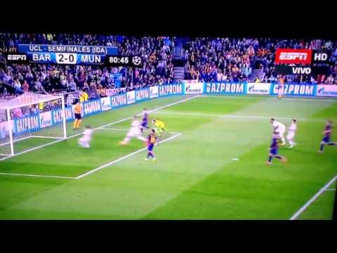 Goles de Messi y Neymar Champions 6 mayo 2015