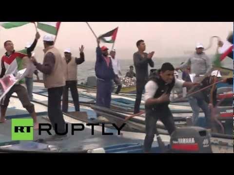 State of Palestine: Gaza fishermen protest Israeli naval blockade