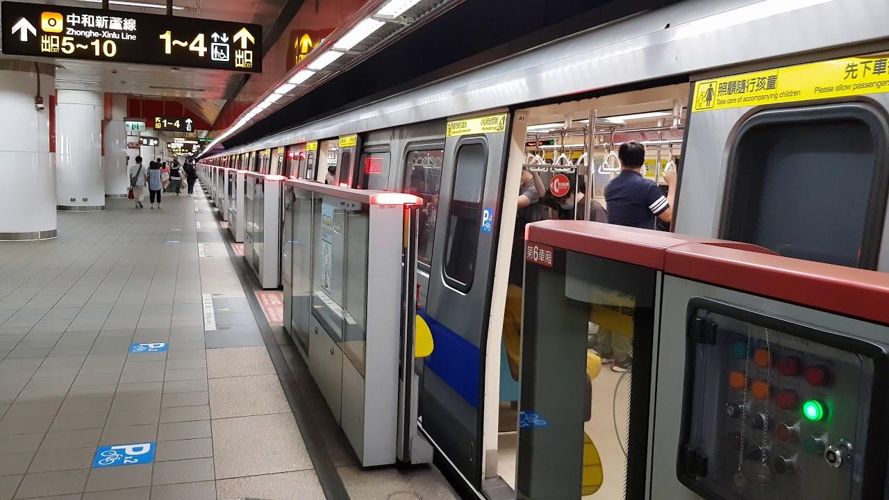 臺北捷運R13民權西路站 C301型列車進出站 Taipei Metro C301 - YouTube
