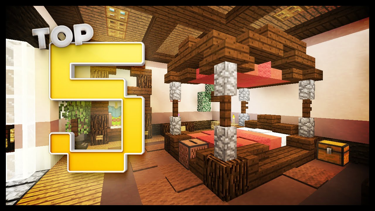 Minecraft bedroom designs ideas youtube for Bed decoration minecraft