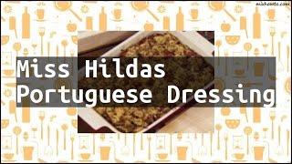 Recipe Miss Hildas Portuguese Dressing