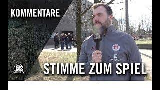 Die Stimme zum Spiel | Niendorfer TSV U17 – FC St. Pauli U16 (18. Spieltag, B-Regionalliga Nord)