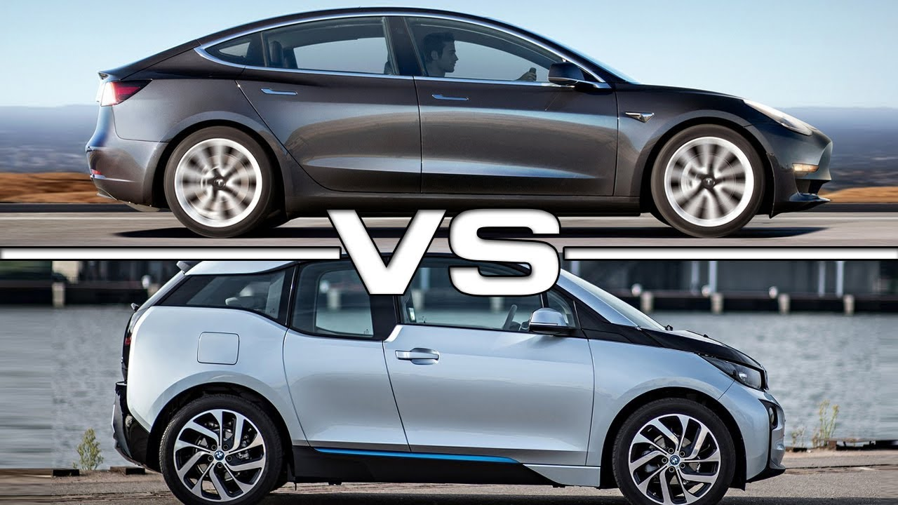 2018 tesla model 3 vs 2016 bmw i3 youtube. Black Bedroom Furniture Sets. Home Design Ideas