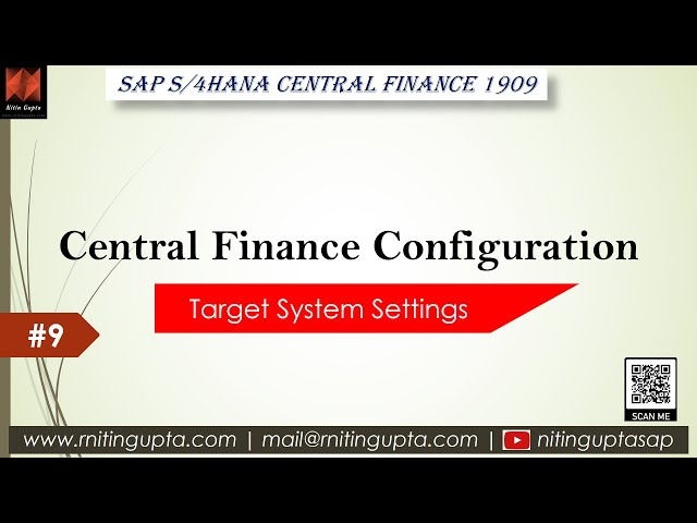 SAP Central Finance - Configuration Video 9