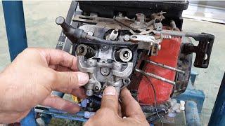 미시비시 엔진 압축부족으로 시동불량! 👂귀 후비게로 청소후 정상시동됨~^^