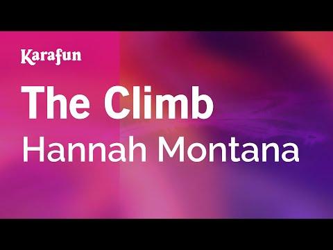 Karaoke The Climb - Hannah Montana *
