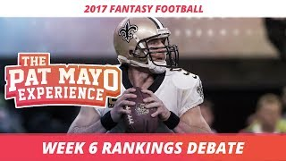 2017 fantasy football - week 6 rankings debate, sleepers, starts and sits