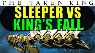 Destiny: Sleeper Simulant vs King's Fall RAID BOSSES! | Exotic Heavy Fusion Rifle | Taken King