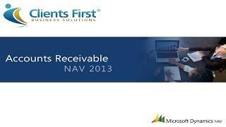 Microsoft Dynamics NAV 2013 Accounts Receivable Training Demo