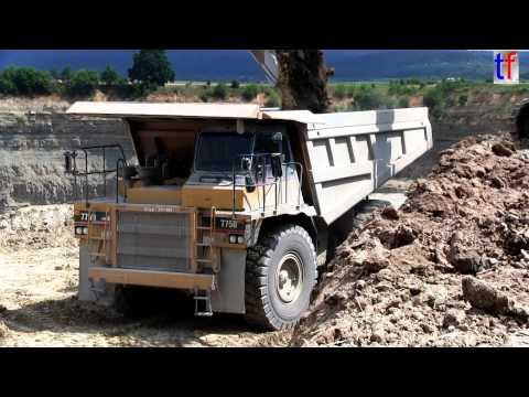 ** BIG BIG** Caterpillar 775D Mining Truck in a Quarry / Steinbruch, Germany, 2014.