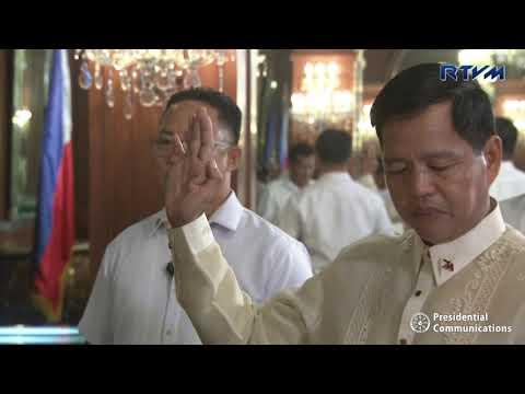 Oath-Taking of Department of Social Welfare and Development Secretary Rolando Joselito Bautista