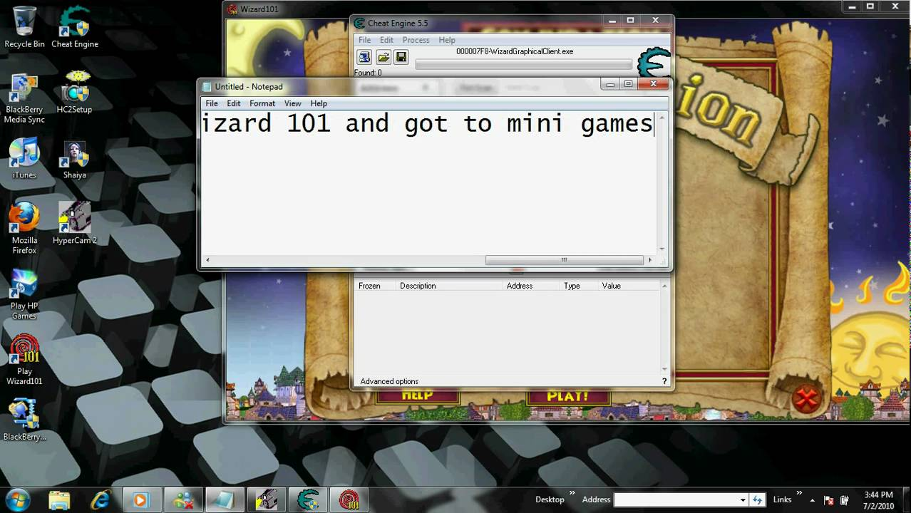 wizard101 mini game cheats