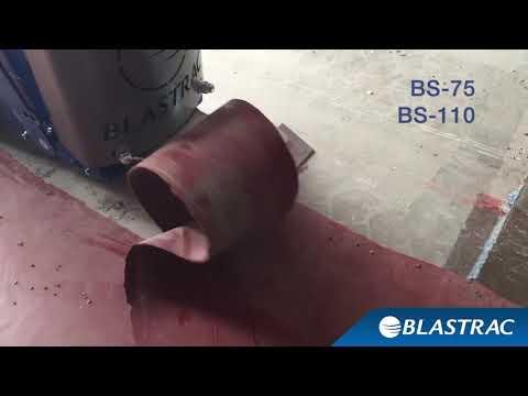 демонтаж резины, удаление смолы задирочными машинами Blastrac