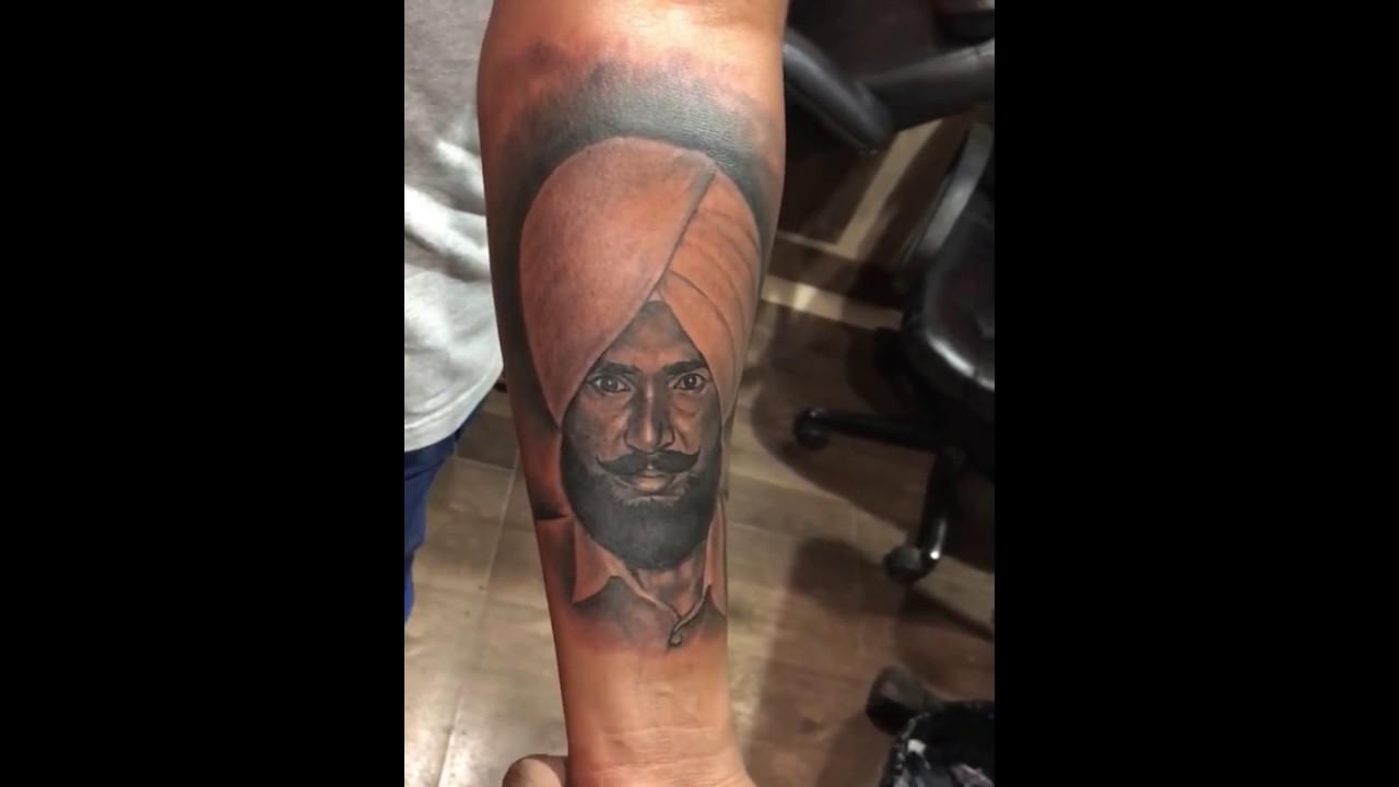 Artist Gill Realistic Portrait Tattoo Art Work Bappu Portrait