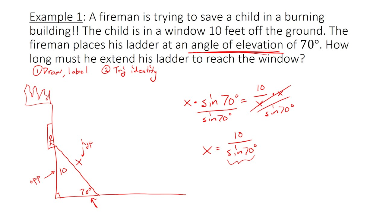 Solving Trig Equations and Word Problems - YouTube  |Trigonometry Word Problems