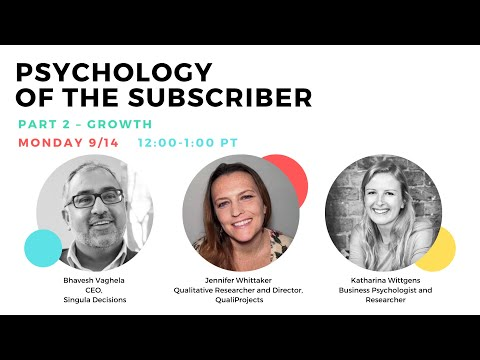 Let's DEW Lunch The Psychology of the Subscriber Growth (September 14, 2020)