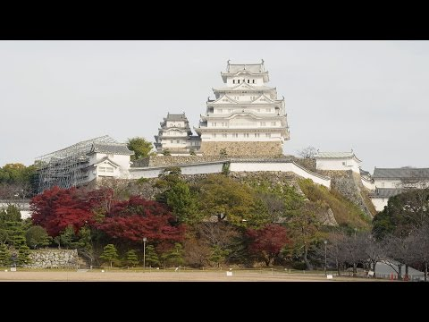 [ 4K Ultra HD ] 姫路城の紅葉 Himeji castle in Autumn (Shot on RED EPIC)