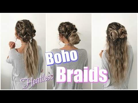 Quick & Easy Heatless Hairstyles