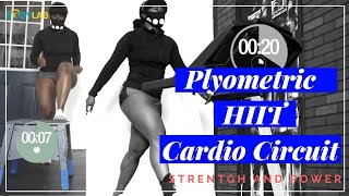Plyometric HIIT Treadmill Cardio Circuit with Training Mask