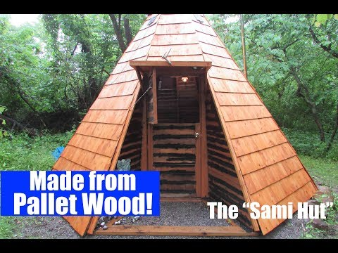 russian-tiny-house-built-w/free-pallet-wood-(off-grid-homesteading)