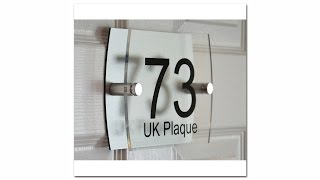 Left Right Rounded Rectangle Decorative Back Plate House Numbers Signs