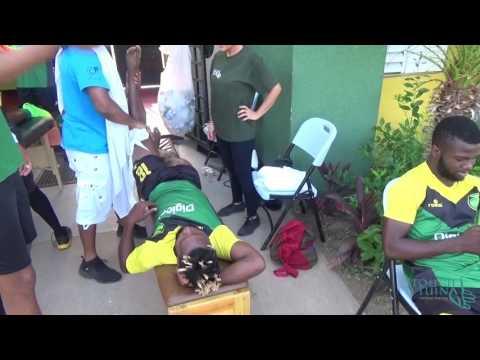 Treating the reggae boyz, sports tuina in Jamaica