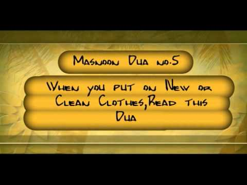 Dua Series ::5:: When Put on New Clothes, read this Dua