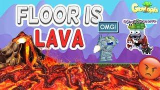 FLOOR IS LAVA CHALLENGE in Growtopia!!