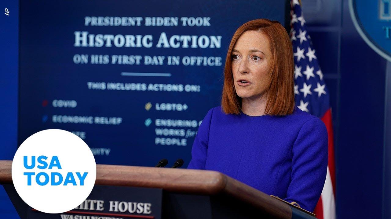 Live updates: Biden speaks at inaugural event; press secretary holds first briefing
