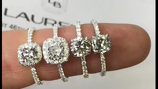 Comparing Diamond Rings: Round and Cushion Shape