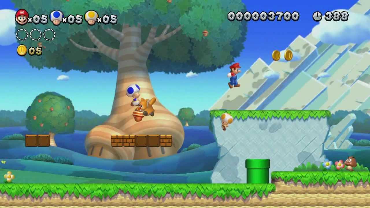 New Super Mario Bros U 100 Walkthrough Episode 1 World 1 The