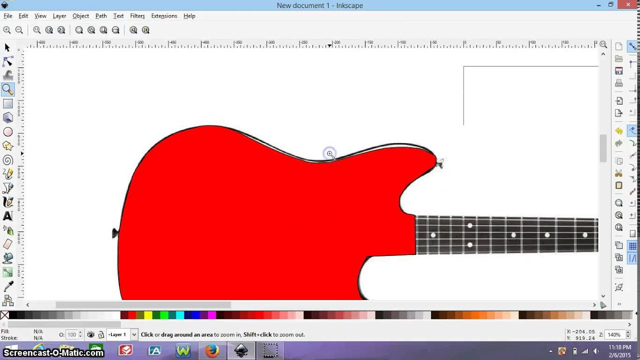inkscape guitar template drawing tutorial part 1 youtube