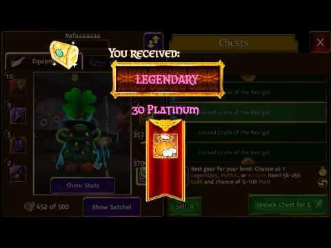 Arcane Legends - Opening Lock Crates #1 NEW KEYS *0* Update
