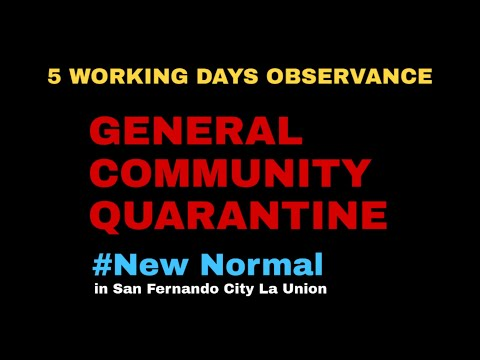 General Community Quarantine Gcq Observance New Normal